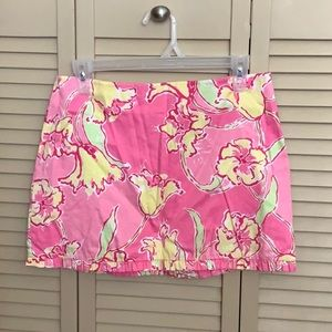 Lilly Pulitzer pink mini skirt